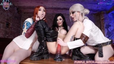 Purple Bitch - Witcher Girls fuck until cum